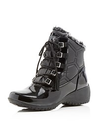 Khombu Annie Quilted Cold Weather Booties Black