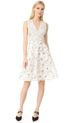 Prabal Gurung Fit And Flare Dress Ivory Black Ecru