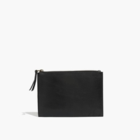 Madewell Leather Pouch Clutch True Black