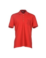 Iceberg Topwear Polo Shirts Men Red