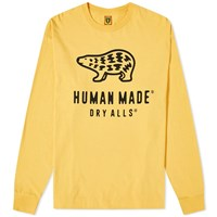 Human Made Long Sleeve Polar Bear Logo Tee Yellow