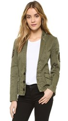 Zadig And Voltaire Virginia Grunge Army Jacket Kaki