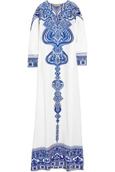 Emilio Pucci Embroidered Silk Cady Kaftan White