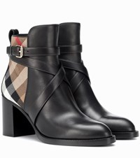 Burberry Leather Ankle Boots Black