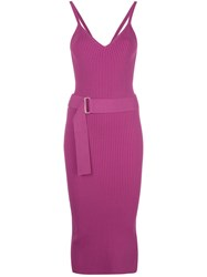 Nicholas Ribbed Design Dress Purple