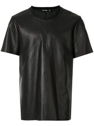 Blk Dnm Panelled T Shirt Leather Black