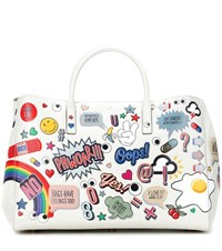 Anya Hindmarch Ebury Maxi All Over Stickers Leather Shopper Multicoloured