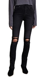 Cotton Citizen High Rise Skinny Jeans Washed Black