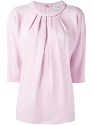 Gianluca Capannolo Ruched Blouse Pink And Purple