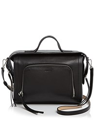 Dkny Crosby Ego Square Top Handle Satchel Black
