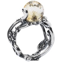 Trollbeads Citrine Facet Ring Pale Yellow