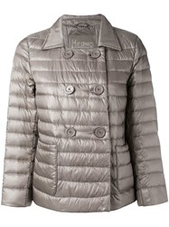 Herno Puffer Jacket Women Feather Down Polyamide Feather 44 Nude Neutrals
