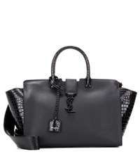 Saint Laurent Monogram Downtown Small Leather Tote Black