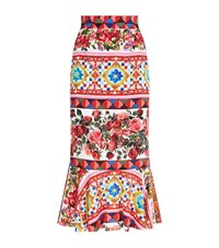 Dolce And Gabbana Mambo Flared Maxi Skirt Female
