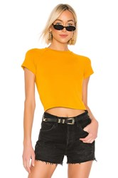 Monrow Fitted Cap Sleeve Tee Yellow