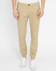 Selected Sand Lawn Elasticated Ankle Slim Fit Trousers