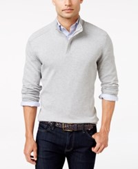 Alfani Men's Mock Turtleneck Marled Sweater Only At Macy's Zinc Heather