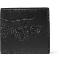 Alexander Mcqueen Embossed Textured Leather Billford Wallet Black