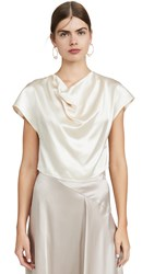 Le Kasha Cowl Neck Silk Top Cream