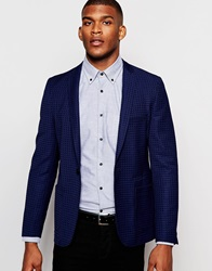 Vito Textured Blazer In Slim Fit Navy