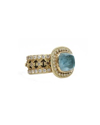 Armenta Mixed Metal Diamond And Labradorite Wide Band Ring Grey