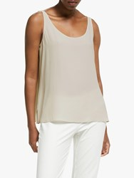 Eileen Fisher Scoop Neck Silk Tank Top Bone