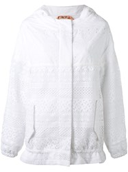 N 21 No21 Hooded Zipped Jacket Women Cotton Polyester 40 White