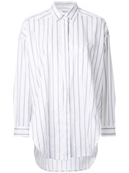 Enfold Concealed Fastening Striped Shirt White