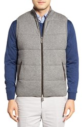 Peter Millar Men's Quilted Wool And Cotton Vest