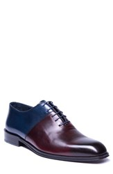 Jared Lang Wyatt Colorblocked Whole Cut Shoe Burgundy Leather