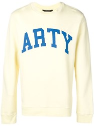 Zadig And Voltaire Printed 'Arty' Sweatshirt Yellow