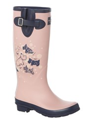 Radley Cherry Blossom Dog Long Welly Boot Pink