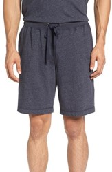 Daniel Buchler Men's Heathered Cotton Blend Lounge Shorts Ink
