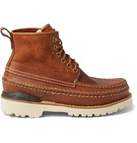 Visvim Grizzly Mid Folk Leather Boots Brown