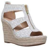 Michael Michael Kors Damita Wedge Heeled Sandals Winter White