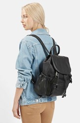 Topshop Sporty Faux Leather Backpack