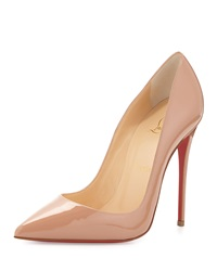 Christian Louboutin So Kate Patent Red Sole Pump Nude