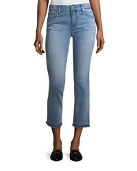 Burberry Cropped Jeans W Frayed Cuffs Pale Blue