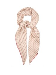 Bottega Veneta Butterfly Print Cashmere And Silk Blend Scarf Pink Multi