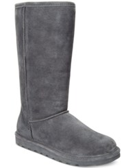 Bearpaw Women's Elle Tall Cold Weather Boots Women's Shoes Charcoal