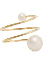 Sophie Bille Brahe Louise Grand 14 Karat Gold Pearl Ring