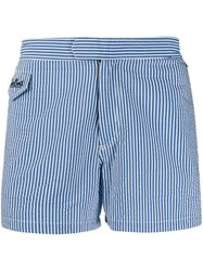 Mc2 Saint Barth Striped Swim Shorts Blue