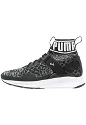 Puma Ignite Evoknit Neutral Running Shoes Black Quiet Shade White