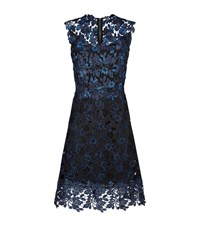 Elie Tahari Savon Lace Dress Female Dark Blue