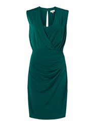 Linea Slinky Plunge Dress Green