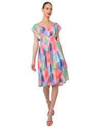 Isaac Mizrahi Multi Color Print Smock Dress Pink Multi