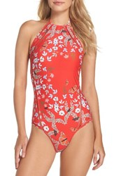 Ted Baker Women's London Kyoto One Piece Swimsuit Bright Red