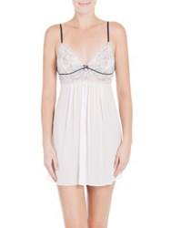 In Bloom Textured Chiffon Chemise Ivory