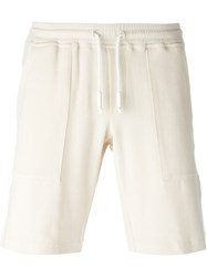 Eleventy Drawstring Track Shorts Nude And Neutrals