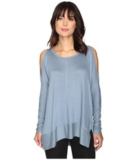 Culture Phit Andreea Top With Side Slits Misty Blue Women's Clothing